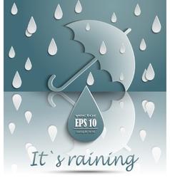 Its raining vector image