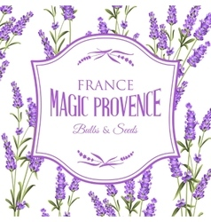 Lavender sign label vector