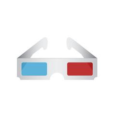 Modern 3d cinema glasses vector