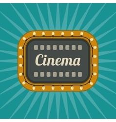 Retro Cinema banner vector image vector image