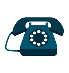 retro phone isolated icon design vector image