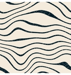 Seamless navy white wavy distorted lines vector