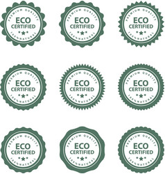 set of hand drawn eco frendly labels vector image vector image