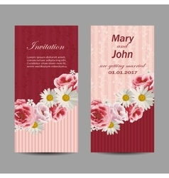Set of wedding invitation cards design vector image