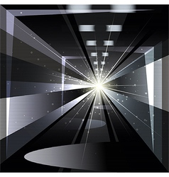 The tunnel vector image vector image