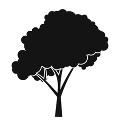 Tree with a rounded crown icon simple style vector