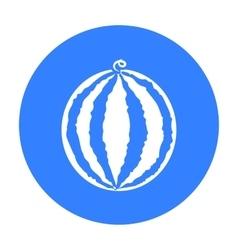 Watermelon icon black Singe fruit icon vector image vector image