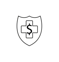 web money protection icon vector image vector image