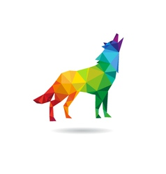 Wolf abstract isolated vector