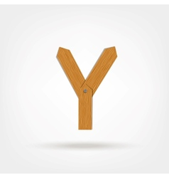 Wooden Boards Letter Y vector image vector image