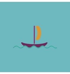 yachts flat icon vector image