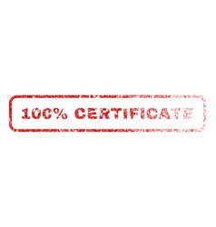 100 percent certificate rubber stamp vector