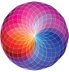 Color wheel background vector