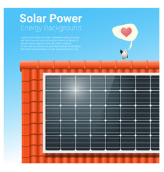 energy concept background with solar panel 4 vector image