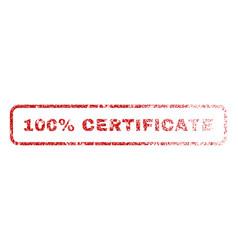 100 percent certificate rubber stamp vector