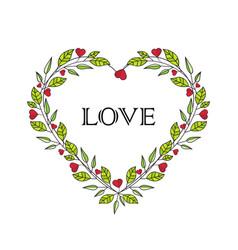 romantic heart decoration vector image