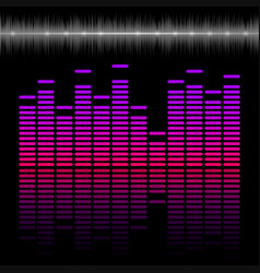 Eq bar equalizer colorful scale with reflection vector
