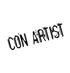 Con artist rubber stamp vector