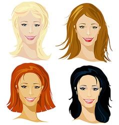 Four representative of women vector