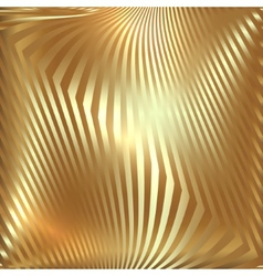 Abstract metal gold background with zigzag stripes vector