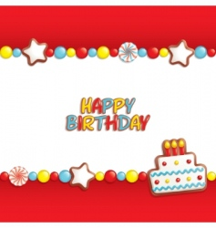 birthday candy vector image