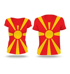 Flag shirt design of macedonia vector