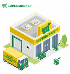Supermarket building vector