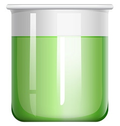 Green solution in glass beaker vector