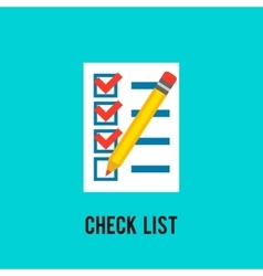 Chek list icon vector