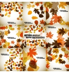 Set of autumn backgrounds vector