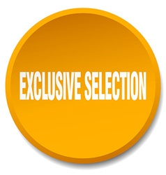 Exclusive selection orange round flat isolated vector