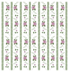 Abstract floral pattern of ribbons vector image
