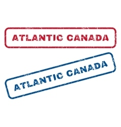 Atlantic canada rubber stamps vector