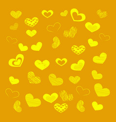 Background of hearts for valentines vector