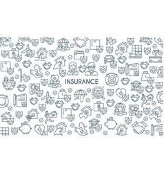 banner on theme insurance2 vector image vector image