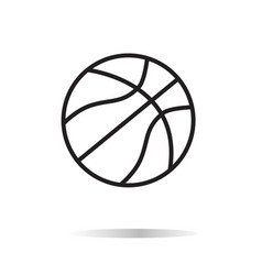 basketball icon on white bckground basketball vector image