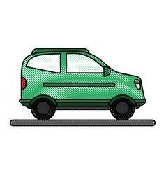Car flat scribble vector