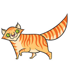 Cartoon smiling tabby cat vector