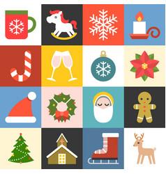 christmas icons set 2 flat design vector image vector image