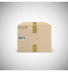 Closed cardboard box taped up vector image
