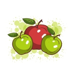Colorful sketch apples vector