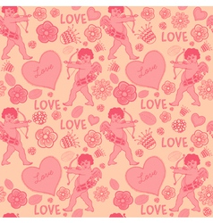 Cupid Love Pattern vector image