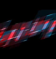 dark red and blue abstract tech background vector image