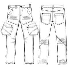 Denim trousers vector image vector image