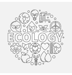 Ecology round symbol vector image vector image