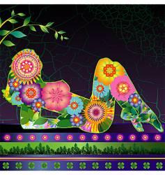 flora linda vector image vector image