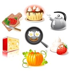Food set vector image vector image