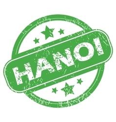 Hanoi green stamp vector