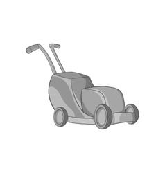 Lawnmower icon black monochrome style vector