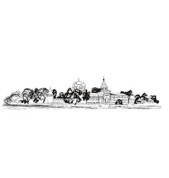 Old russian city landscape kostroma kremlin vector